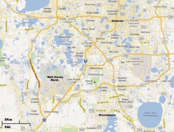 Mapa Kissimmee