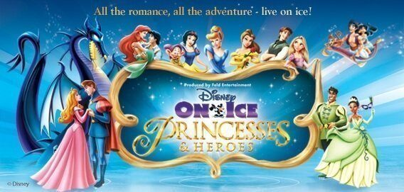 Disney on ice - Heroes princesses cartaz