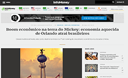 Economia aquecida de Orlando atrai brasileiros.
