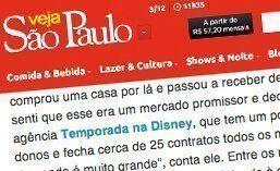 Matéria para a revista Veja São Paulo