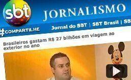 Matéria para o jornal Jornal do SBT