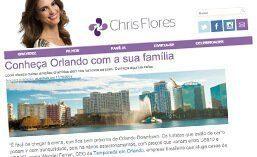 Matéria para o site CHRIS FLORES