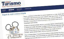 Matéria para o site Jornal de Turismo