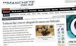 Matéria para o site Manchete Online