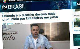 Matéria realizada para o Jornal SBT Brasil na empresa Temporada em Orlando