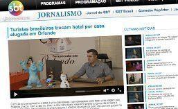 Reportagem para o Jornal do SBT